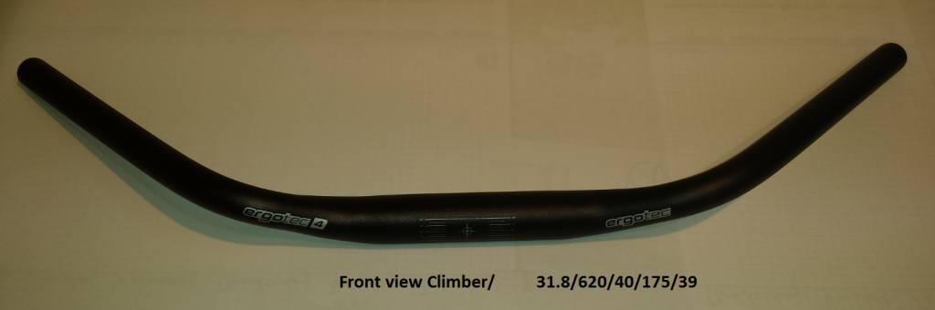 Stuurbocht zwart 31,8 ; 620 mm breed ; 40 mm hoog ; 39 graden