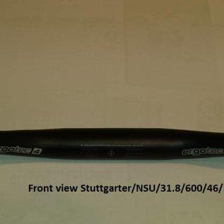 Stuurbocht zwart 31,8 ; 600 mm breed ; 46 mm hoog ; 52 graden