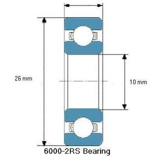TBZ bearings 6000-2RS lager, 10x26x8