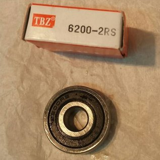 TBZ bearings 6200-2RS lager, 10x30x9