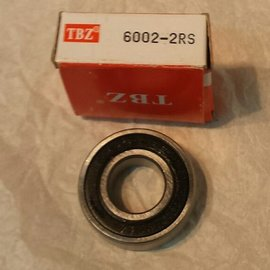 TBZ bearings 6002-2RS lager, 15x32x9