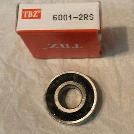 TBZ bearings 6001-2RS lager, 12x28x8