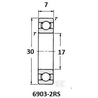 TBZ bearings 6903-2RS lager, 17x30x7