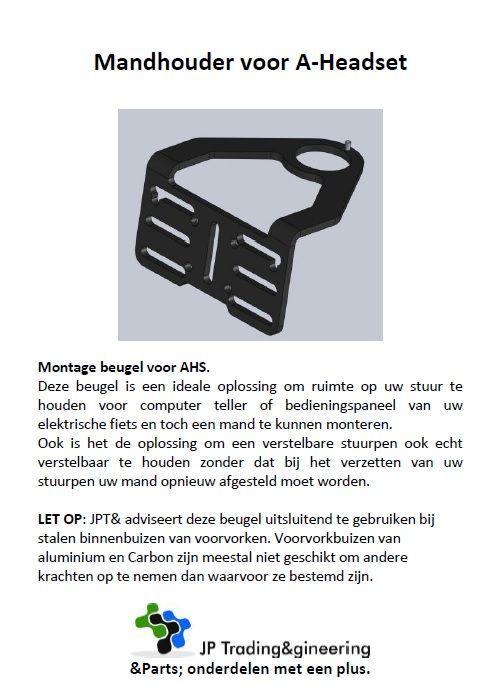 JP1112 Mandbeugel voor AHS met kabel doorvoer