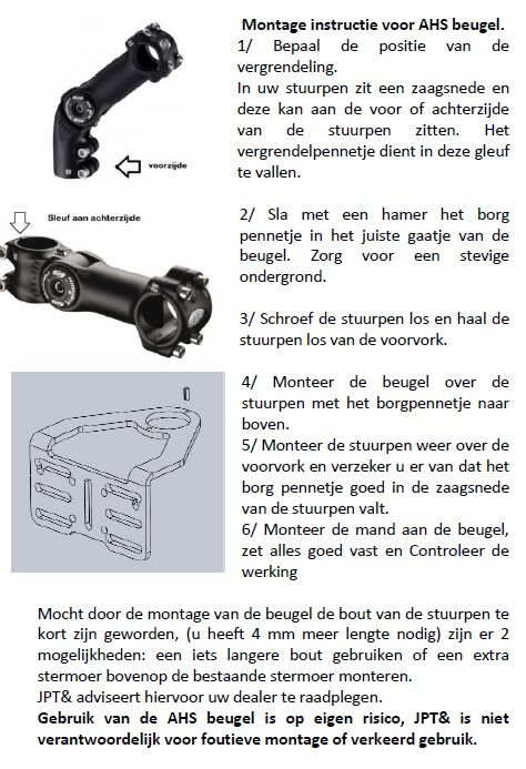 JP1111 Mandbeugel lang 28,6mm