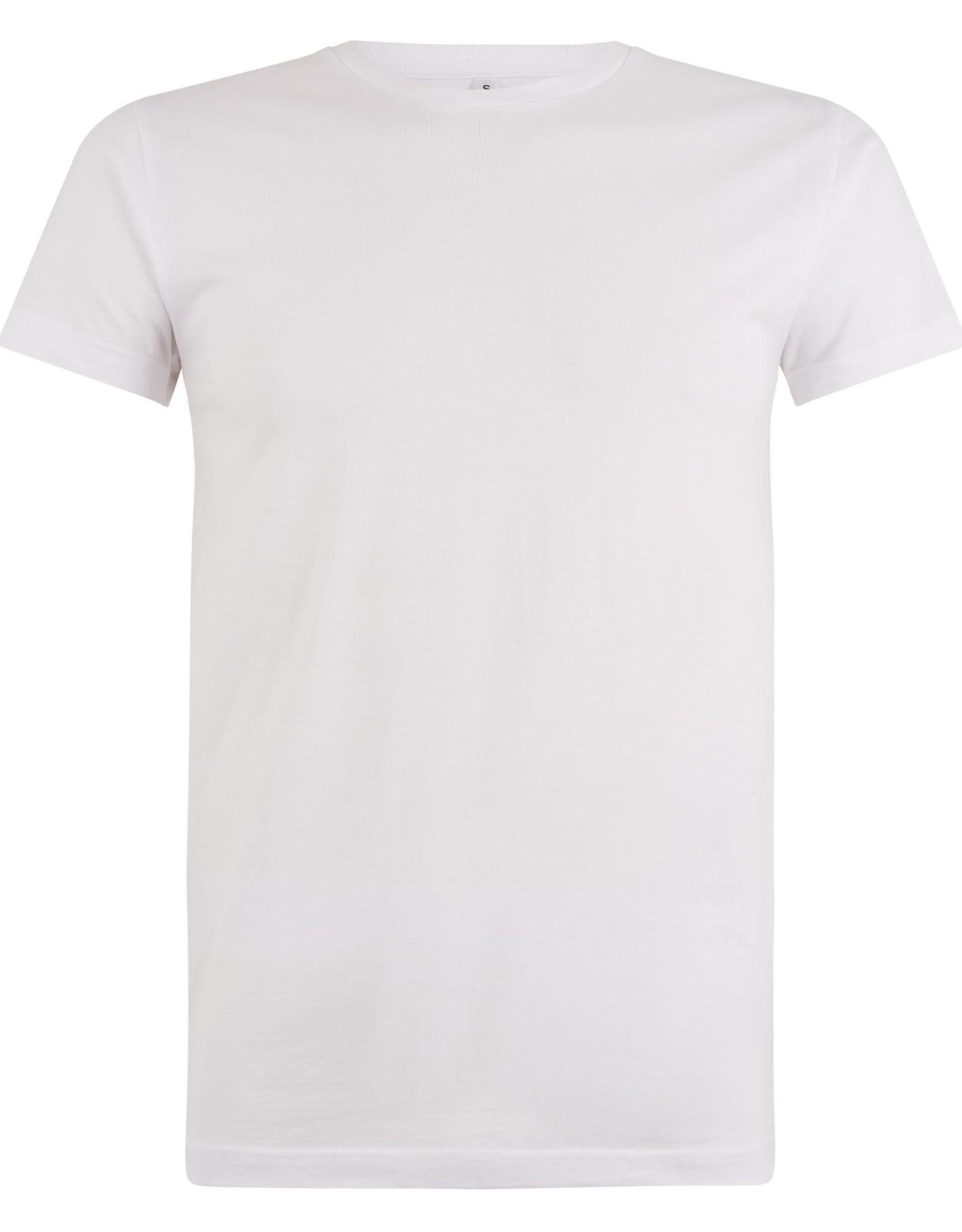 Logostar T-SHIRT basic met ronde hals wit