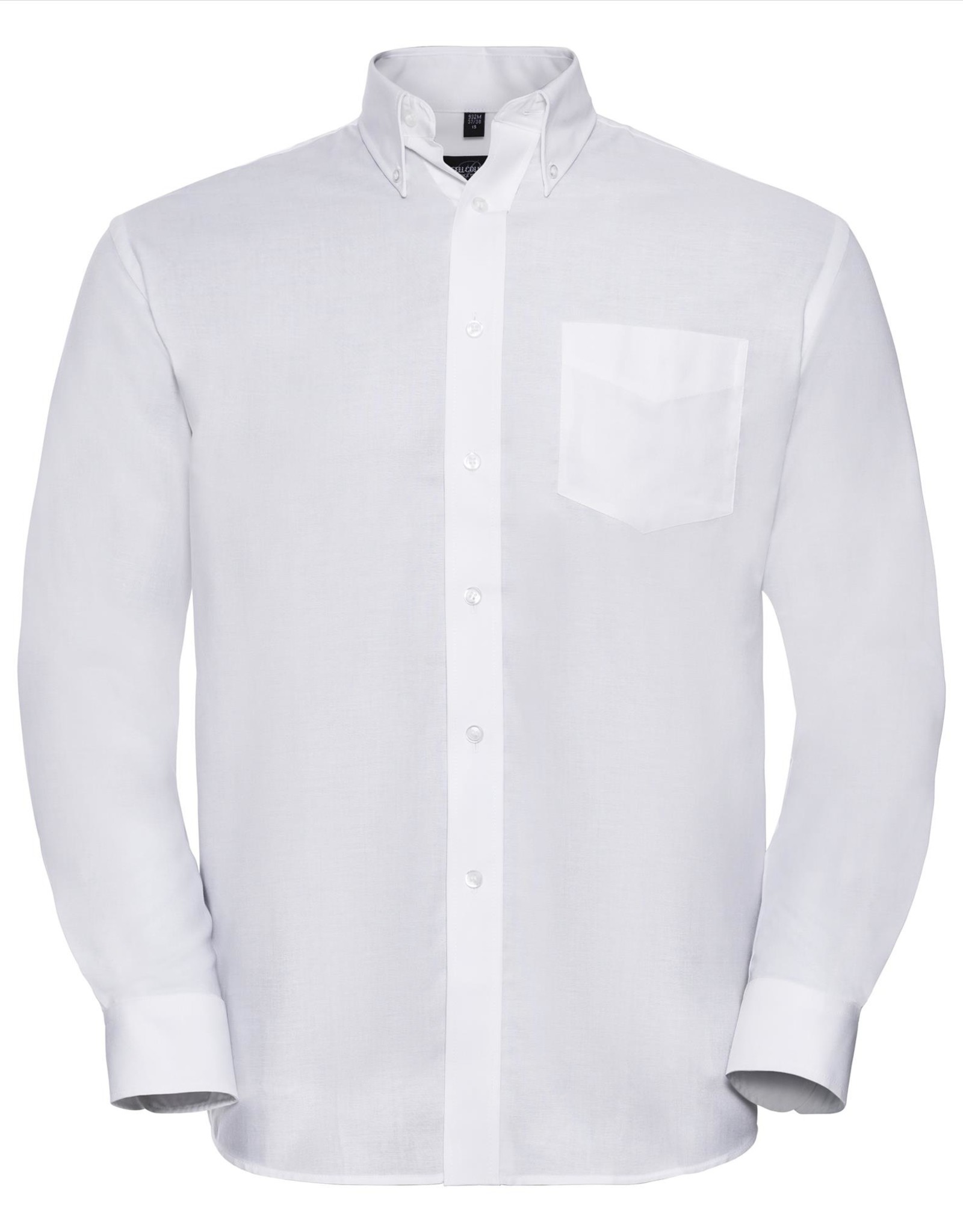 Russell OVERHEMD Classic Oxford lange mouw wit