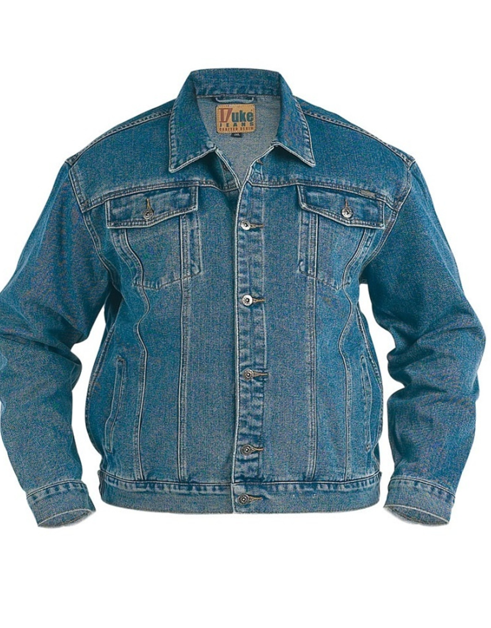 Duke London SPIJKERJACK denim 'Trucker' zwart