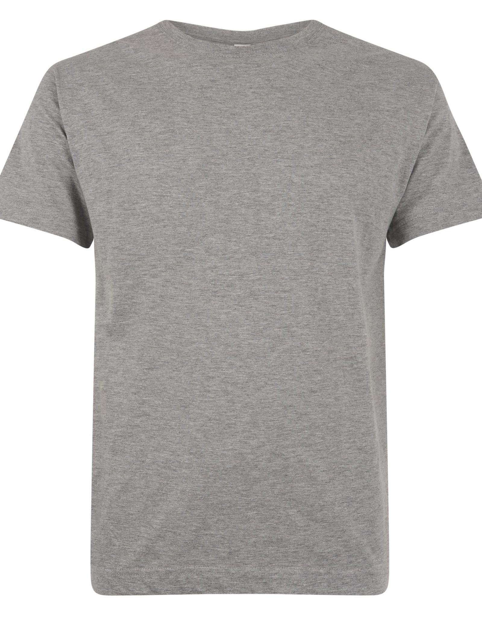 Logostar T-SHIRT basic met ronde hals grijs