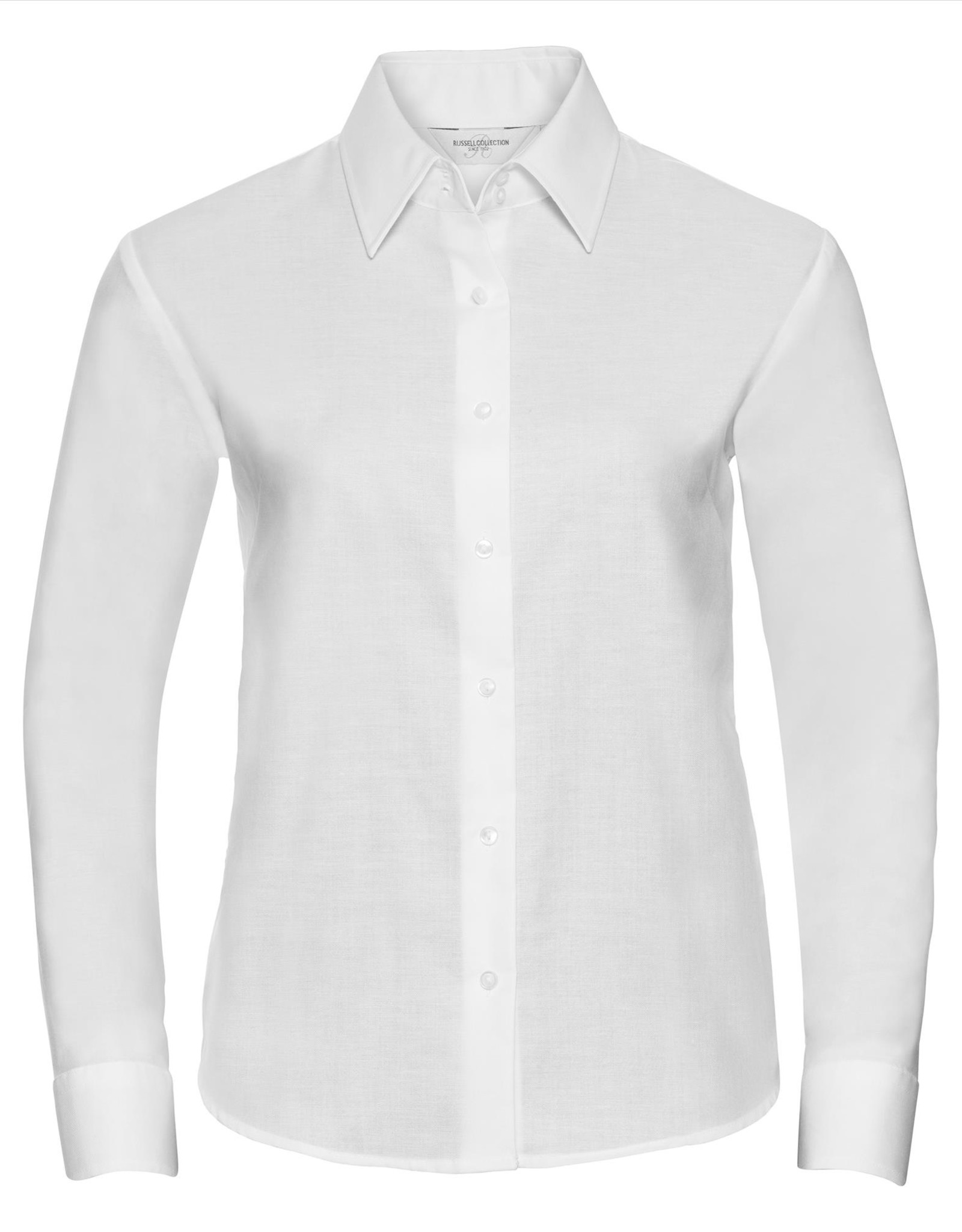 Russell BLOUSE Classic Oxford lange mouw wit
