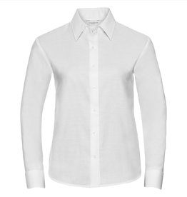 Russell BLOUSE Oxford lange mouw wit