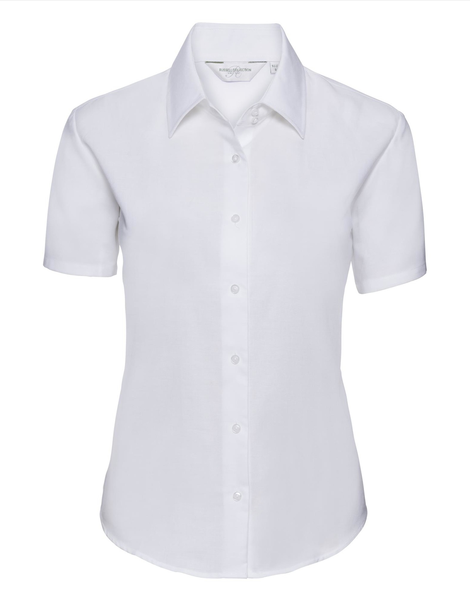 Russell BLOUSE Classic Oxford korte mouw wit