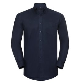 Russell OVERHEMD Oxford lange mouw navy
