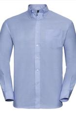 Russell OVERHEMD Classic Oxford lange mouw sky