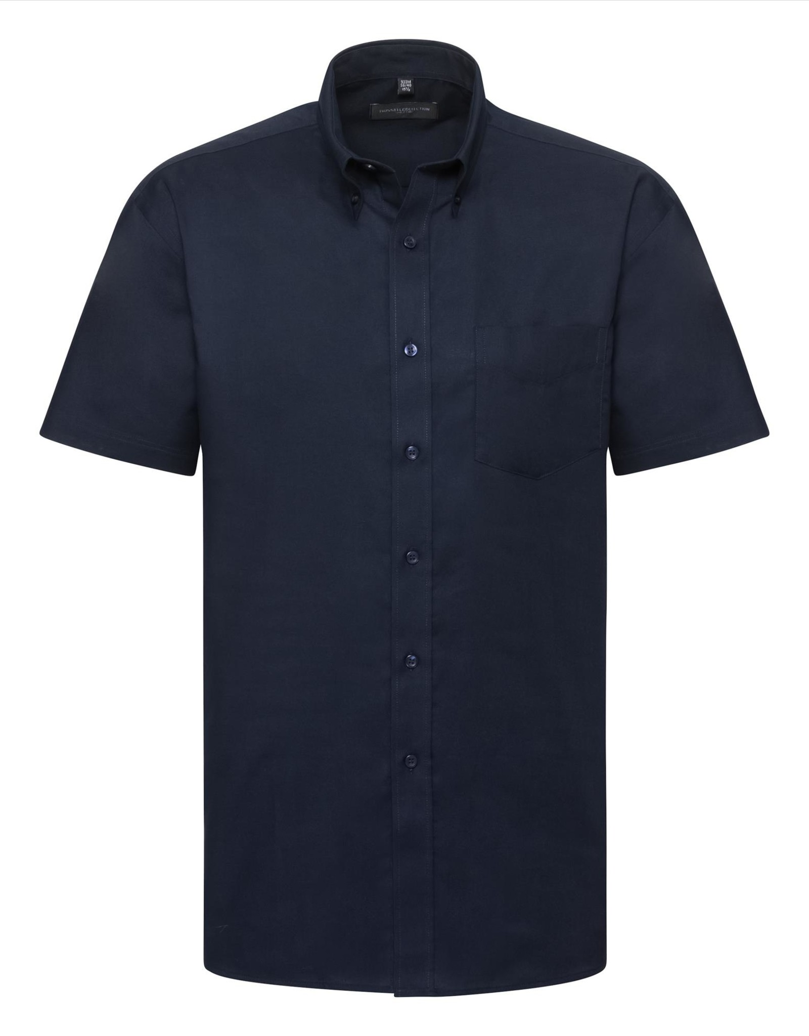 Russell OVERHEMD Classic Oxford korte mouw navy