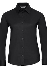 Russell BLOUSE Classic Oxford lange mouw zwart