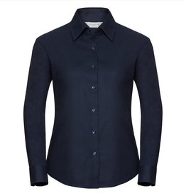 Russell BLOUSE Oxford lange mouw navy