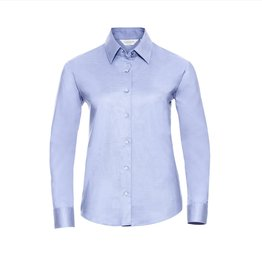 Russell BLOUSE Oxford lange mouw sky