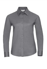 Russell BLOUSE Classic Oxford lange mouw zilver