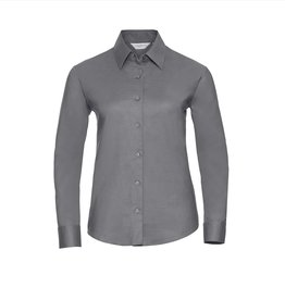 Russell BLOUSE Oxford lange mouw zilver