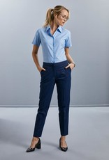 Russell BLOUSE Classic Oxford korte mouw navy