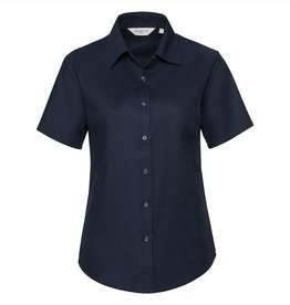 Russell BLOUSE Oxford korte mouw navy