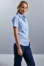 Russell BLOUSE Classic Oxford korte mouw sky
