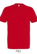 Sol's T-SHIRT basic ronde hals gekleurd 'Imperial' rood