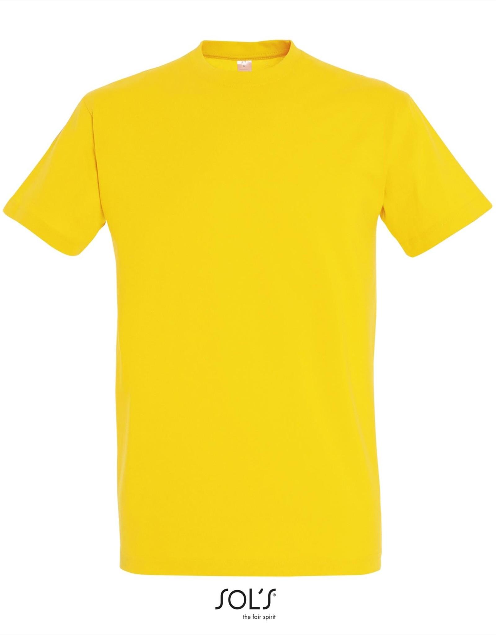 Sol's T-SHIRT basic ronde hals gekleurd 'Imperial' geel
