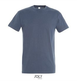 Sol's T-SHIRT basic ronde hals 'Imperial' denim