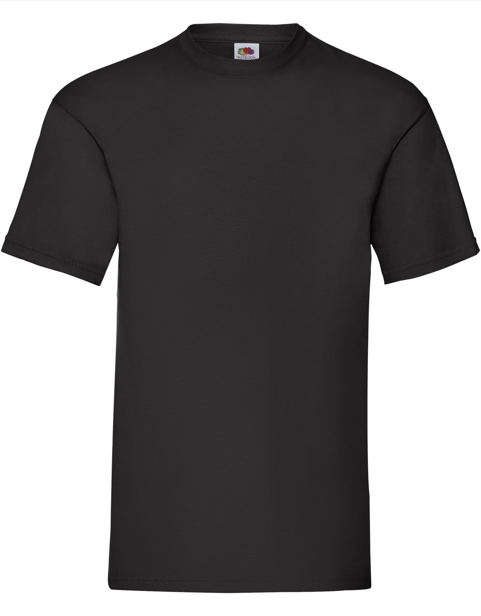 Fruit of the Loom T-SHIRT basic ronde hals 'Valueweight T' zwart