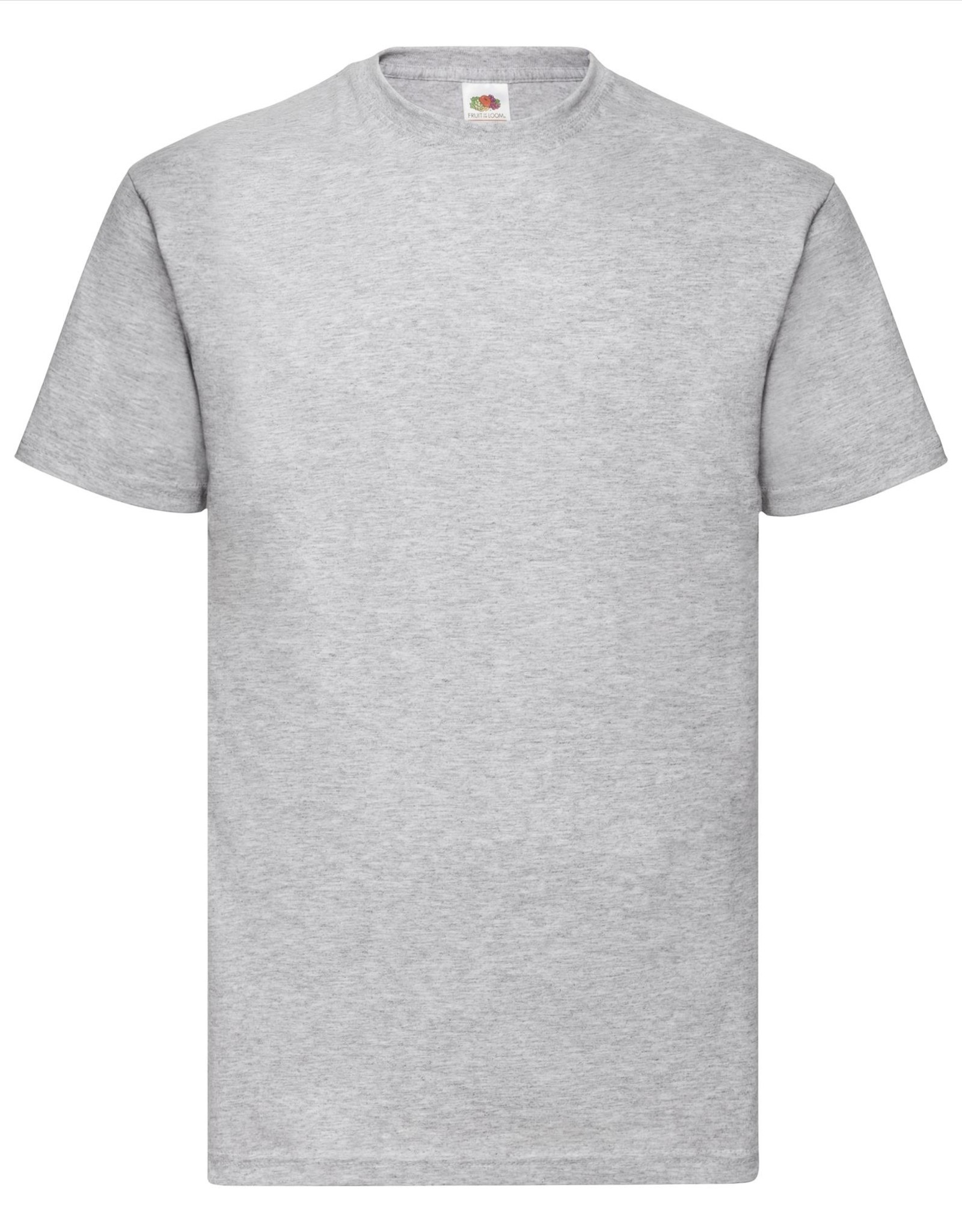 Fruit of the Loom T-SHIRT basic ronde hals 'Valueweight T' grijs