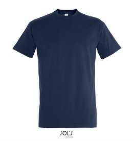 Sol's T-SHIRT basic ronde hals 'Imperial' navy