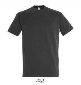 Sol's T-SHIRT basic ronde hals 'Imperial' antraciet