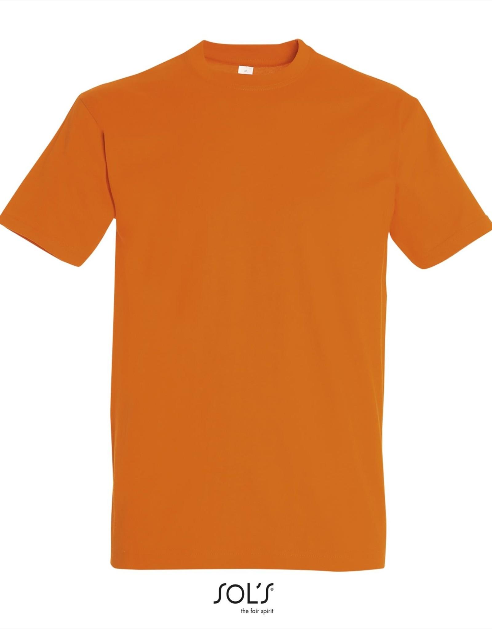 Sol's T-SHIRT basic ronde hals gekleurd 'Imperial' oranje