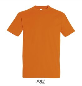 Sol's T-SHIRT basic ronde hals 'Imperial' oranje