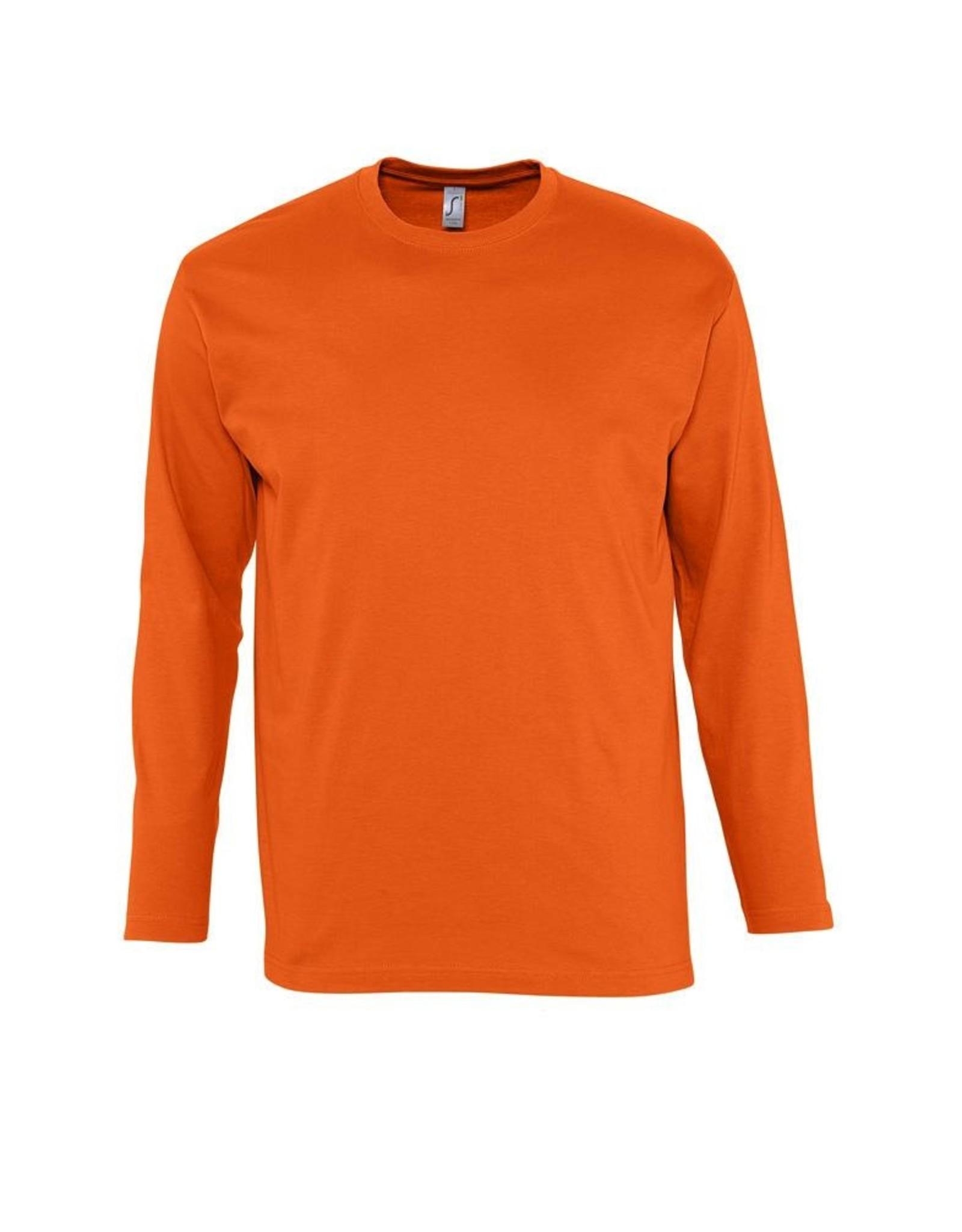 Sol's T-SHIRT lange mouw gekleurd 'Monarch' oranje