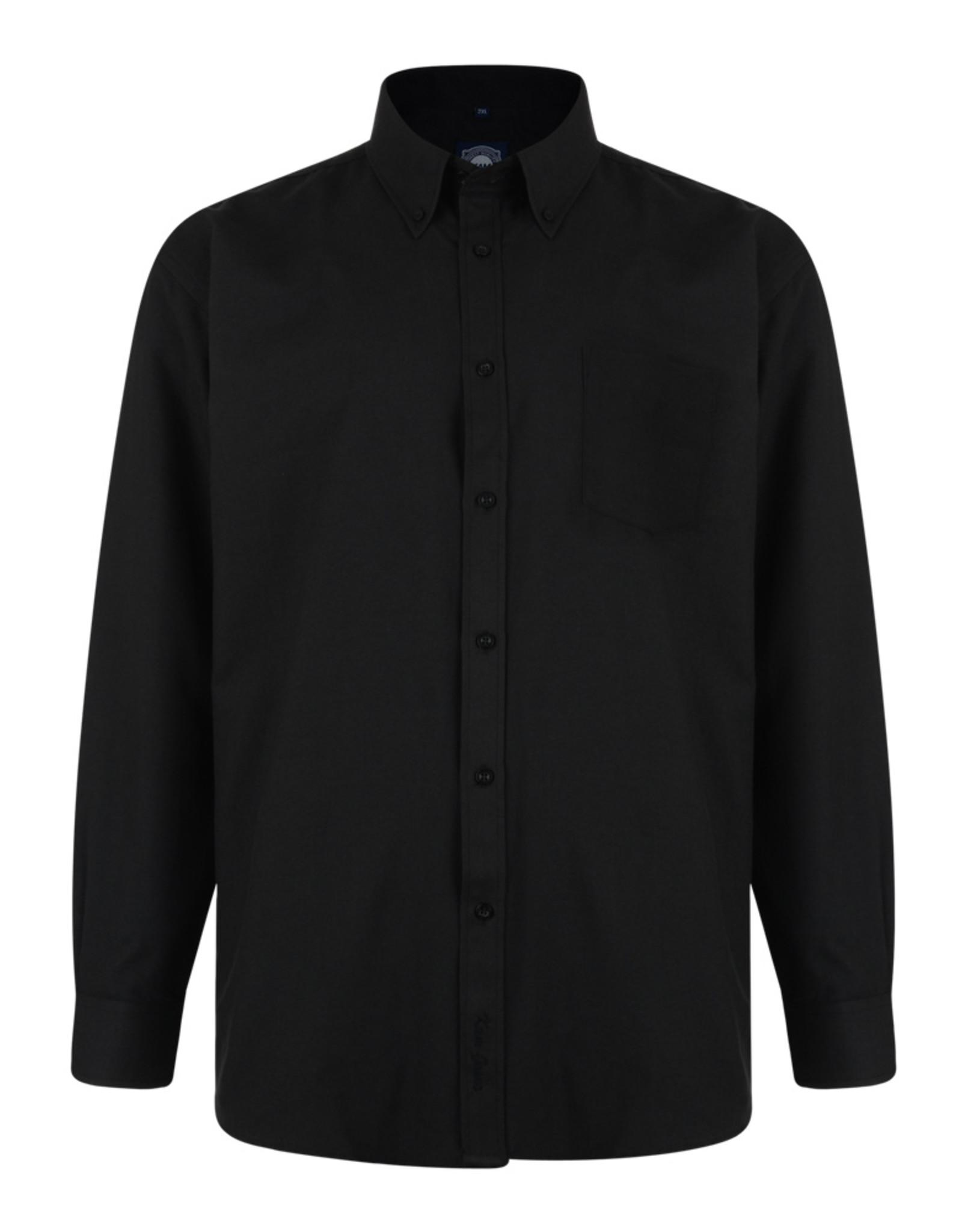 Kam Jeans OVERHEMD Oxford casual lange mouw zwart