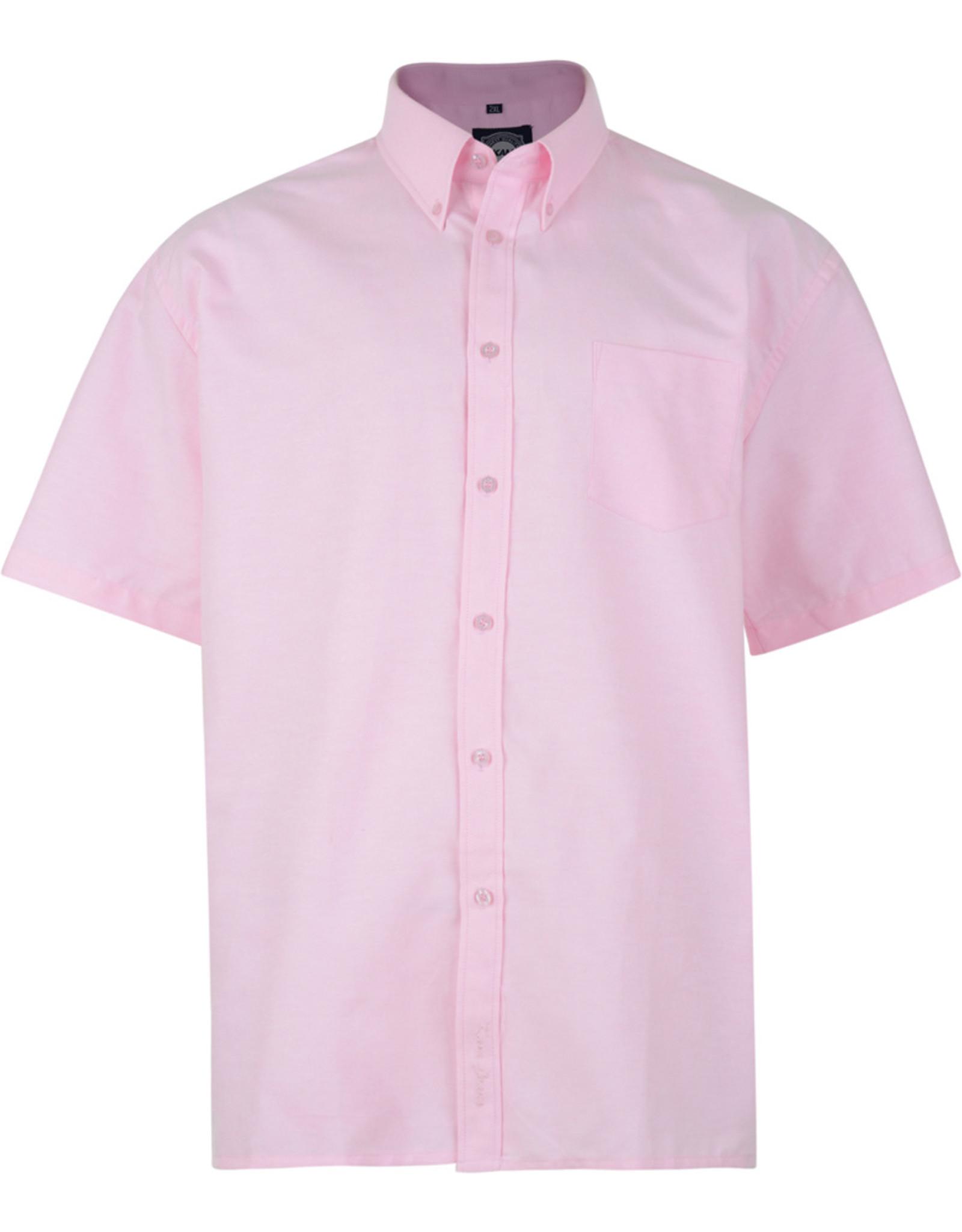 Kam Jeans OVERHEMD Oxford casual korte mouw roze