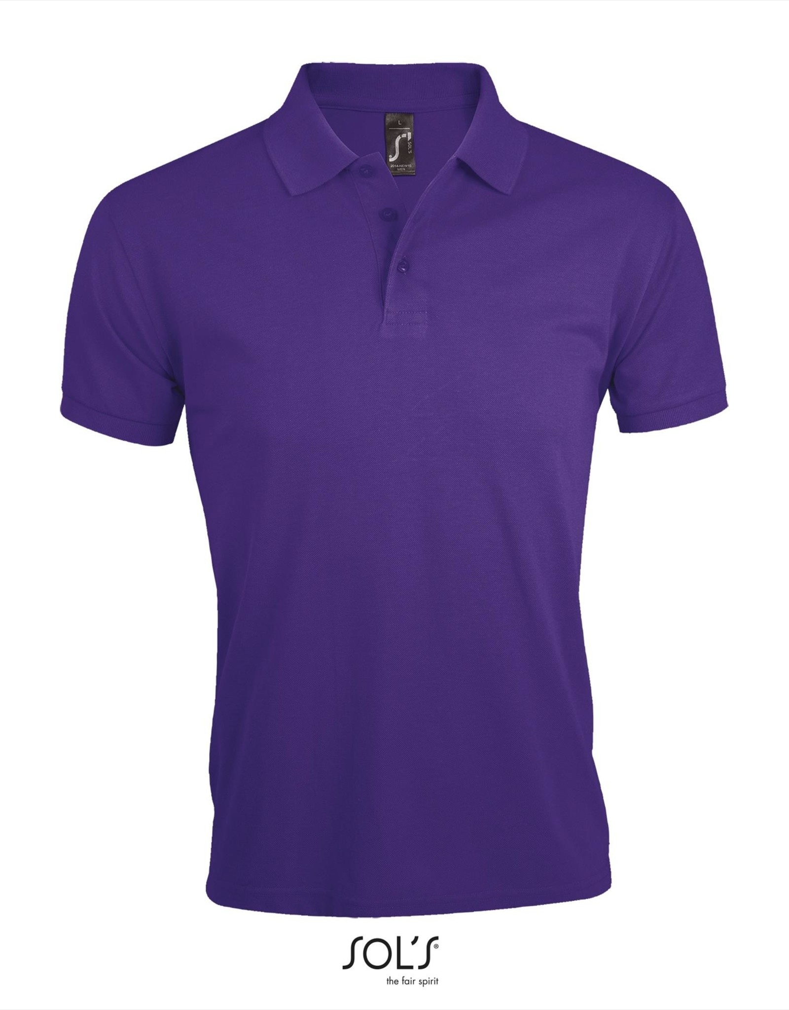 Sol's POLOSHIRT 'Prime' paars