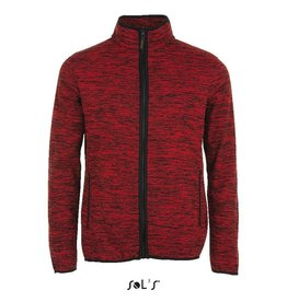 Sol's FLEECE JACKET geméleerd 'Turbo' rood
