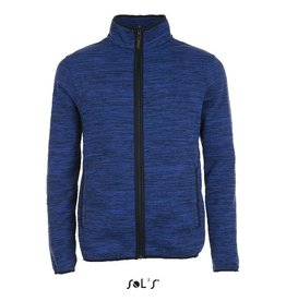 Sol's FLEECE JACKET geméleerd 'Turbo' kobalt