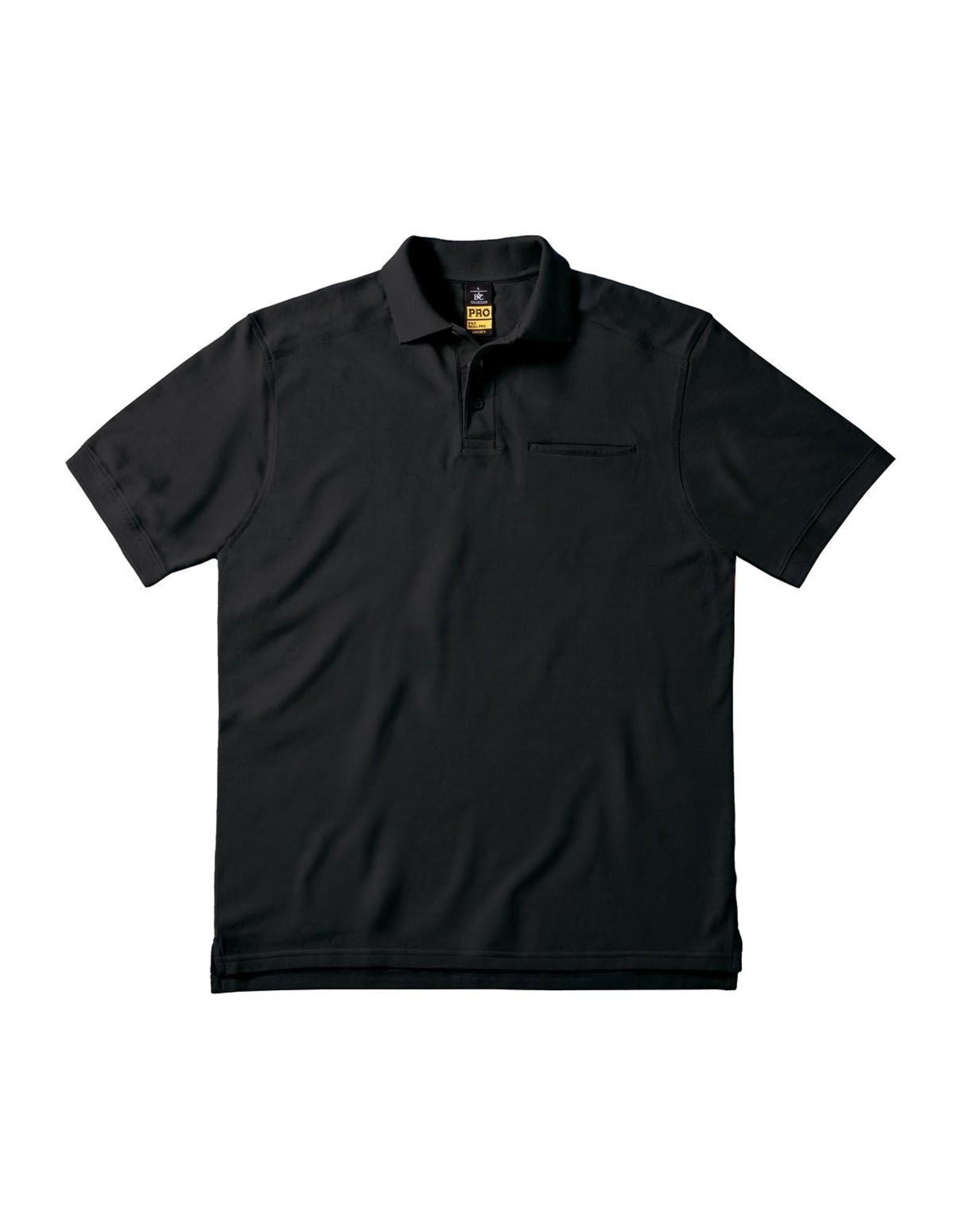 B&C Workwear POLOSHIRT katoen zwart