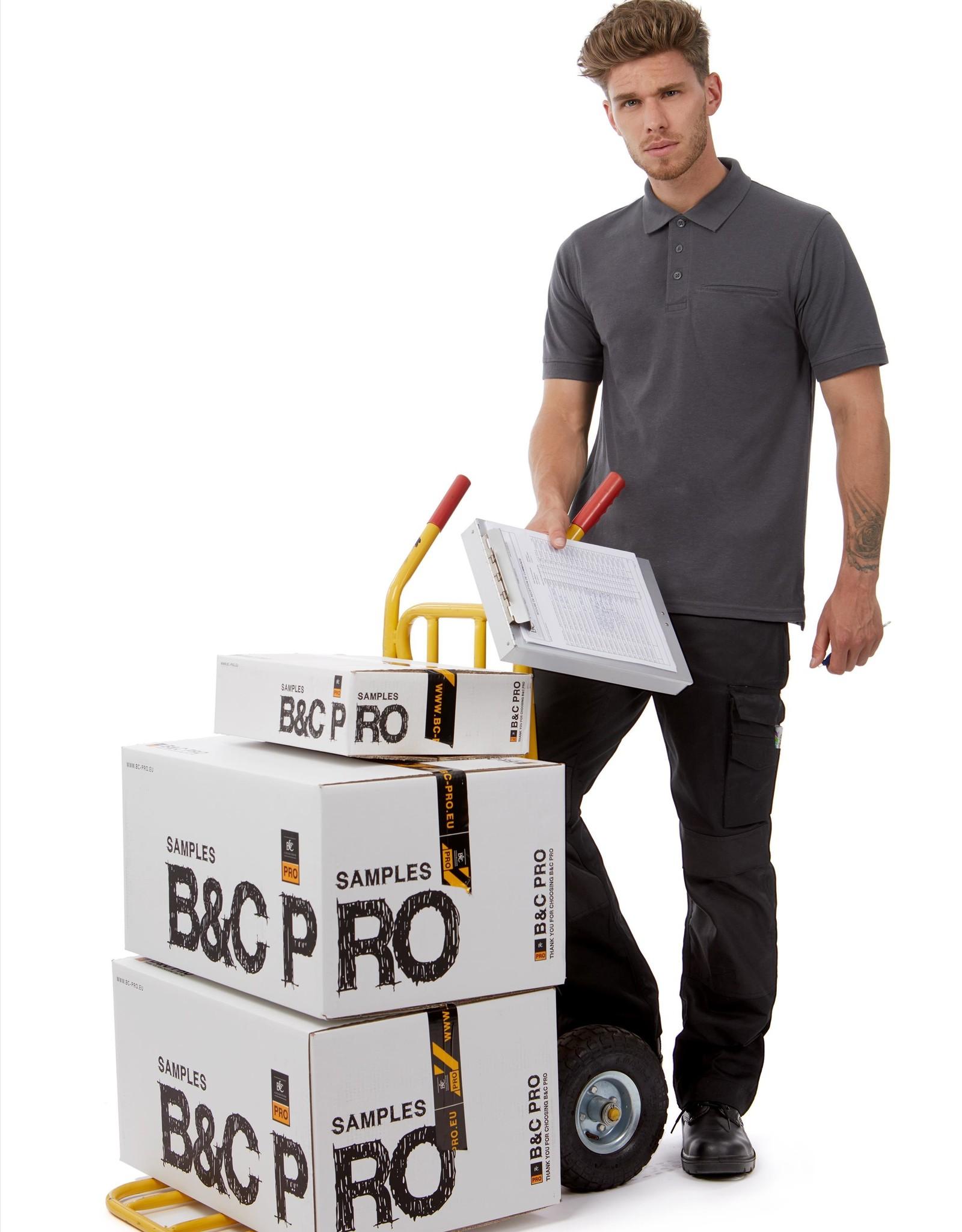 B&C Workwear POLOSHIRT polycotton zwart