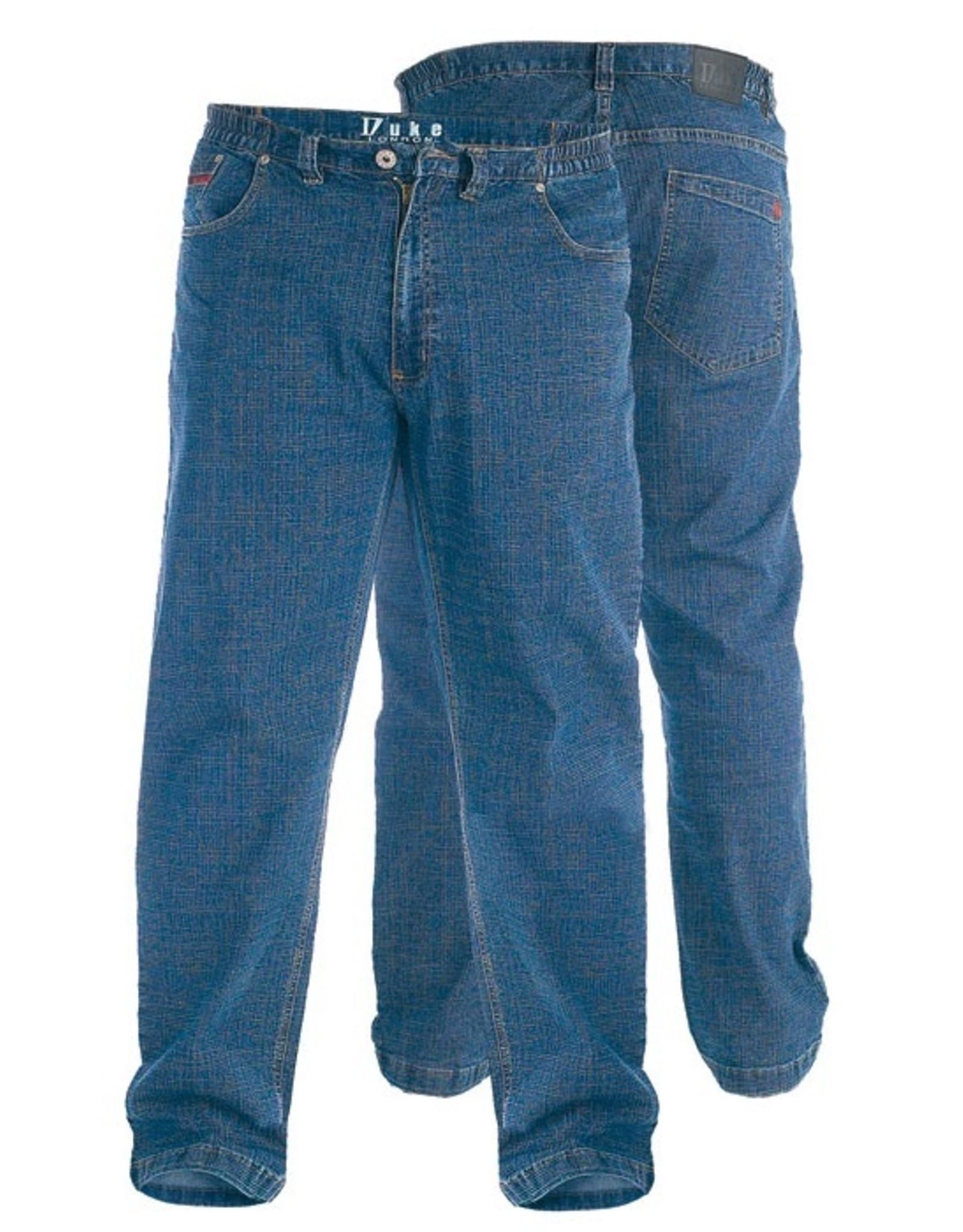 Duke London SPIJKERBROEK stretch met elastische taille blauw