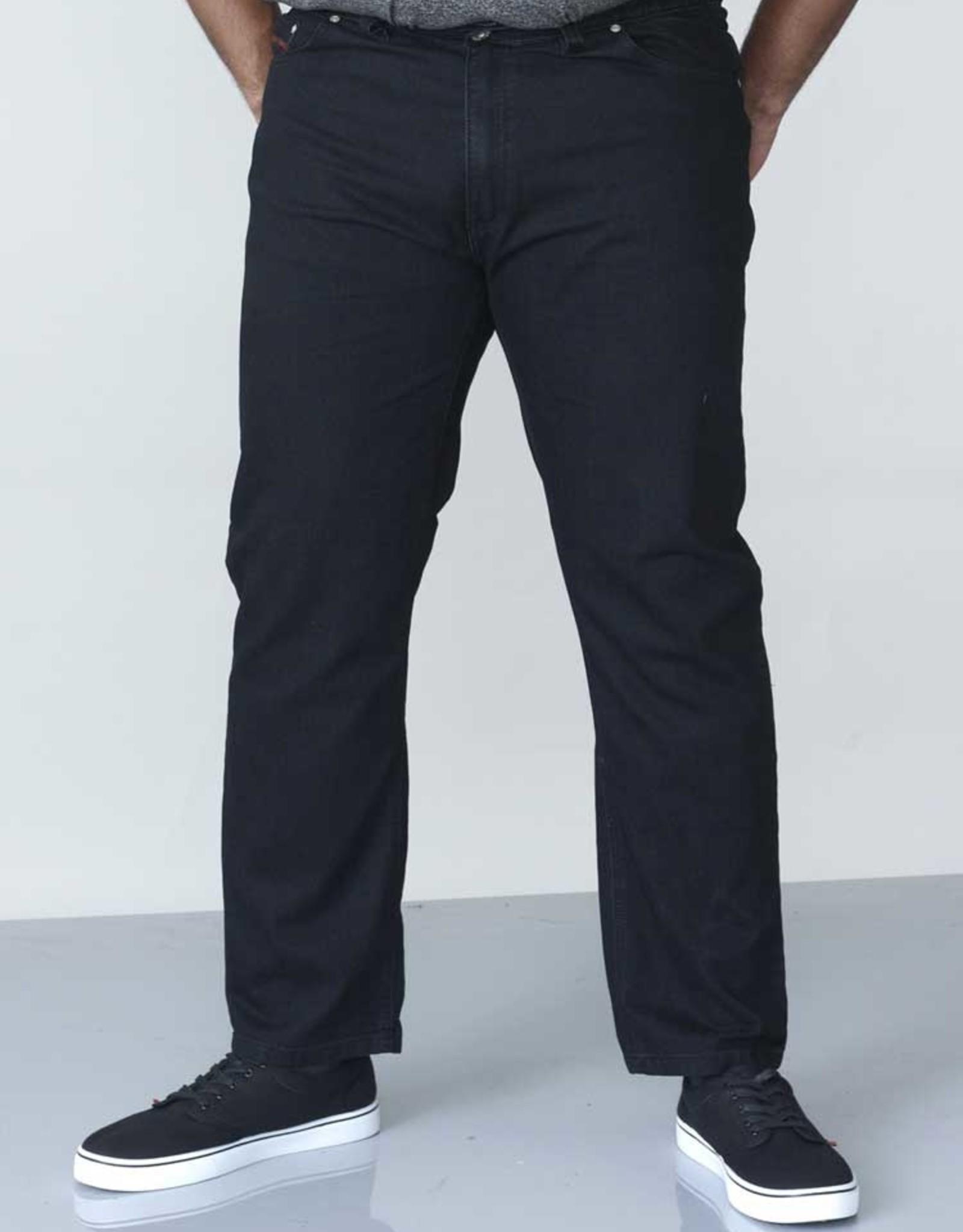 Duke London SPIJKERBROEK stretch met elastische taille zwart