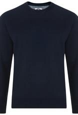 Kam Jeans Basic set-in SWEATER zwart