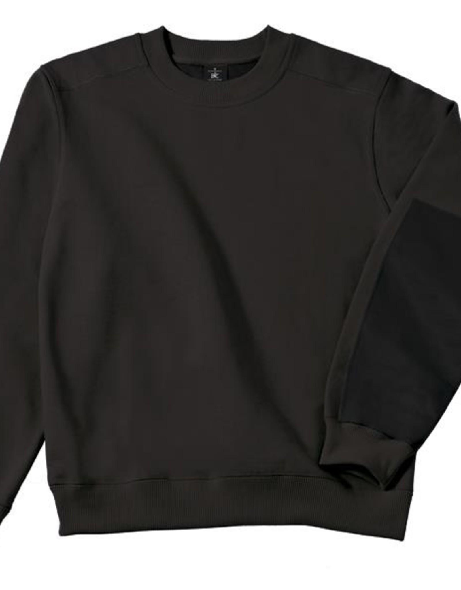 B&C Workwear set-in SWEATER zwart