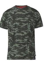 D-555 Camouflage T-SHIRT groen