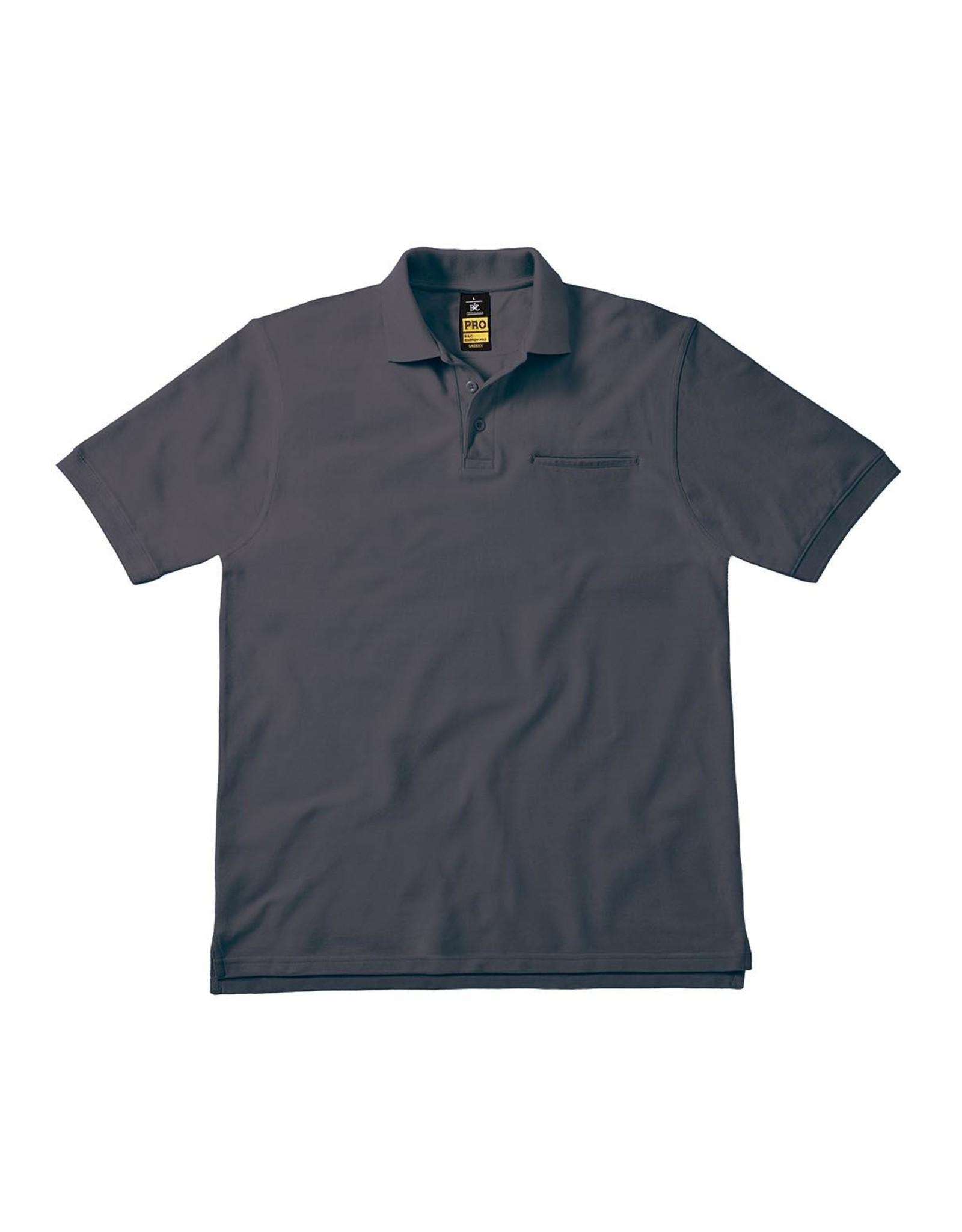B&C Workwear POLOSHIRT polycotton antraciet